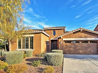 Stunning 3BR Goodyear House w/Wifi, Large Backyard Oasis & Awe-Inspiring Mountain Views - Walk to Countless Community Amenities + Easy Access to Popular Phoenix Attractions!