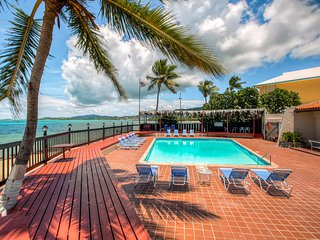 Lovely 3BR Christiansted Condo w/Wifi, 3 Private Decks & Sensational Ocean Views - Located Just 120 Feet Away From the Gorgeous Beach!