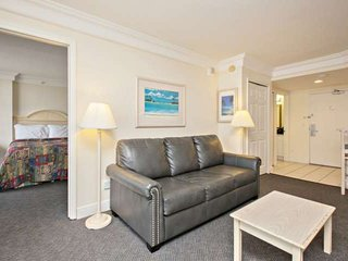 Large one bedroom suite featuring a separate living area.