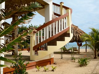 Back View of Spiral Staircase toward Palapa and the Sea