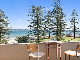 Rainbow End Unit 4 - Balcony with ocean views overlooking Rainbow Bay Coolangatt