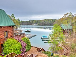Lakeside 4BR Six Mile House w/Boat Dock, Massive Decks & Water Views
