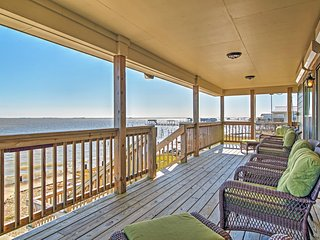Waterfront 3BR New Orleans House w/Private Dock, Enormous Deck & Stunning Views of Lakes Pontchartrain & St. Catherine – Approximately 30 Miles From Downtown New Orleans
