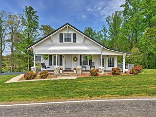 Serene 2BR Dobson Farmhouse w/Wifi, Wraparound Porch & Fire Pit - Quiet