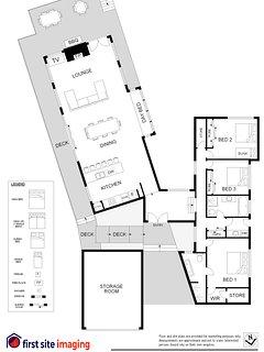Hunter Valley Accommodation - Blue Cliff Retreat - Floor Plan