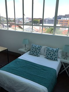 Bedroom 1: North facing with city view