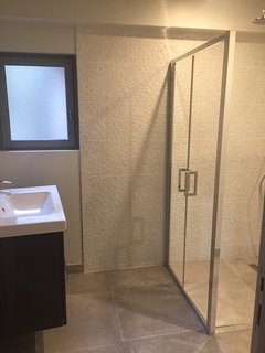New bathroom with shower and toilet on the ground floor