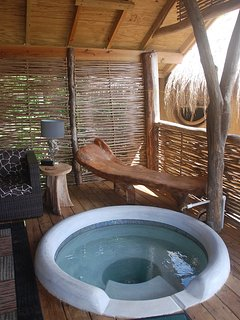 The plunge pool to cool off in after lying on your sundeck