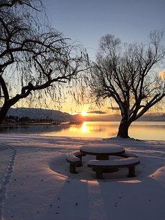 Okanagan Lake is beautiful any time of year