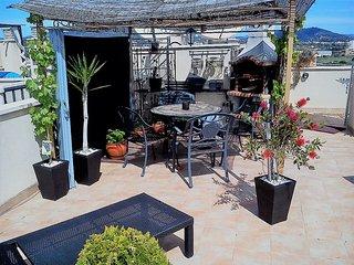 Atemberaubendes Phenthouse und Dachterrasse mitBerg,Meerblick, Cala Millor