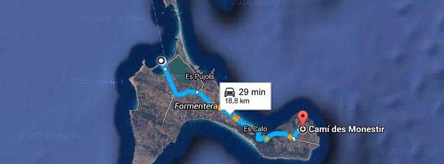 Situación y recorrido para llegar a la casa desde el puerto de la sabina.