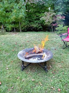 Fire pit is available for guests to use. Complimentary wood is provided.
