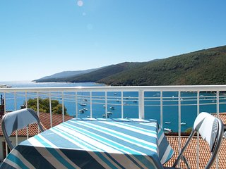 App with beautiful sea view,AC,WiFi 229, Rabac