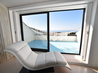 Direct Private Access Beachfront Large Luxury Villa near Porto with Heated Pool