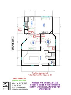 Main House First Floor Extra Bed Setup Floor Plan