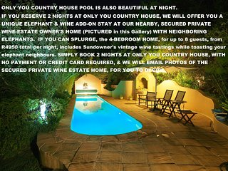 ONLY YOU COUNTRY HOUSE 2 BEDROOM SUITES with Private Access, Knysna