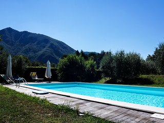 "Luccabookingholiday.""Azzurra"" Apartment with terraces,shared pool and garden!!, Diecimo"