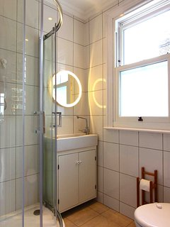 Shower room with essential toiletries supplied