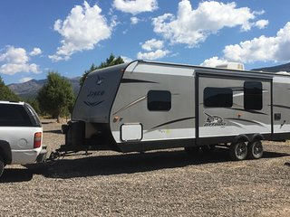 27 foot travel trailer delivered to your campsite near Zion National Park, Hurricane
