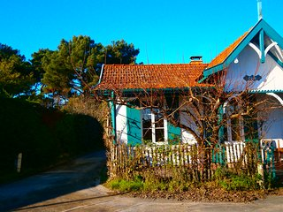 Villa Clarte au Cap Ferret, 20 m / plage, maison vue mer village de Piraillan