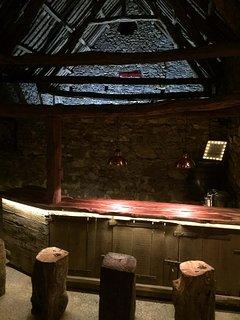 Bar with draft beer pump & karaoke machine