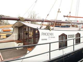 Stay on beautiful sailing ship 'Phoenix' near Amsterdam, Weesp