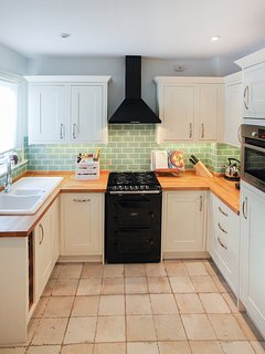 Country style kitchen with Aga cooker and Dualit toaster and kettle!