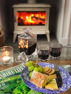 A glass of holiday Port by the log burner?