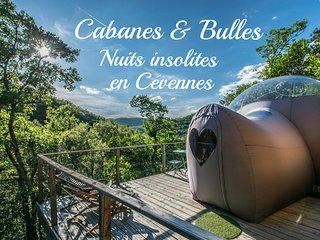 Cabanes & Bulles hebergements insolites en Cévennes