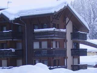 MODERN FAMILY SKI/SUMMER GROUND FLOOR APARTMENT IN THE HEART OF THE GRAND MASSIF