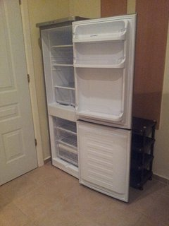 Large fridge/freezer in hall