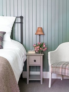Comfortable bedroom with beautiful bedlinen to make your stay as relaxing as possible.