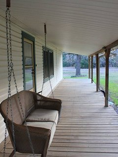 The Anniversary Swing on the front porch.