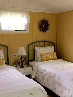 Comfortably sleeps 4 with 2 separate bedrooms which include new mattresses and blackout curtains.