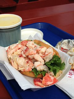 Enjoy exceptional seafood including 'lobster' rolls and 'chowda' at local restaurants nearby.