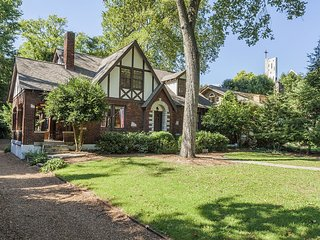 West End Tudor, Historic Home by a Vibrant Park, Walk to Vanderbilt, It's Clean!