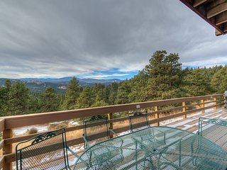Deck has dining table and gas grill for your relaxation and pleasure, and VIEW!