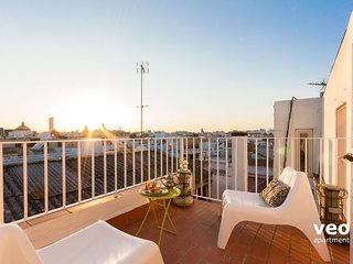 Conde Ibarra Terrace. Top-floor duplex with Cathedral views in Santa Cruz