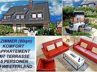 4 Zimmer Ferienwohnung auf Sylt Sylter Deichwiesen