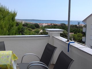Sweet apartment with beautiful panorama view G7/Closest to party beach Zrće
