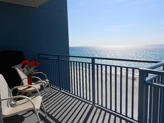 502 Sterling Breeze! FREE Beach Service! Gym! Walk to Pier Park! On the Beach!