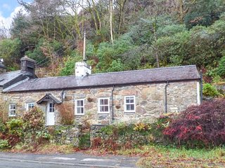 NODDFA, character cottage, woodburner, dogs welcome, WiFi, natual wooded garden, in Beddgelert, Ref 949189