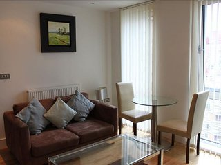 Spacious Denison House I apartment in Tower Hamlets with WiFi & lift.