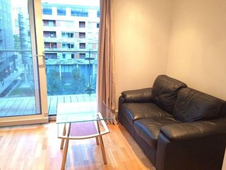 Spacious Denison House II apartment in Tower Hamlets with WiFi, balkon & lift.