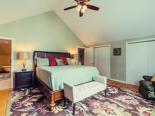 Boston Fern master bedroom on 2nd floor.