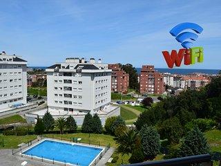 Apartamento con Piscina 2 Terrazas Vistas y WIFI, Castro Urdiales