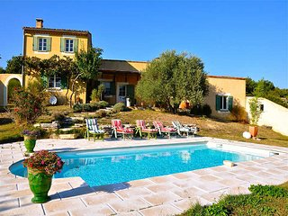 Villa 6p in St-Martin-de-Castillon, Luberon, private pool