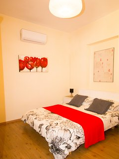 Bedroom with air con/heater