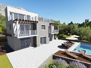 New! Villa Mirna, amazing sea views & heated pool, Lokva Rogoznica