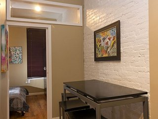 Times Square 3 Bed 1 Bath - GENEROUSLY SIZED - Quiet- Exposed Brick Walls